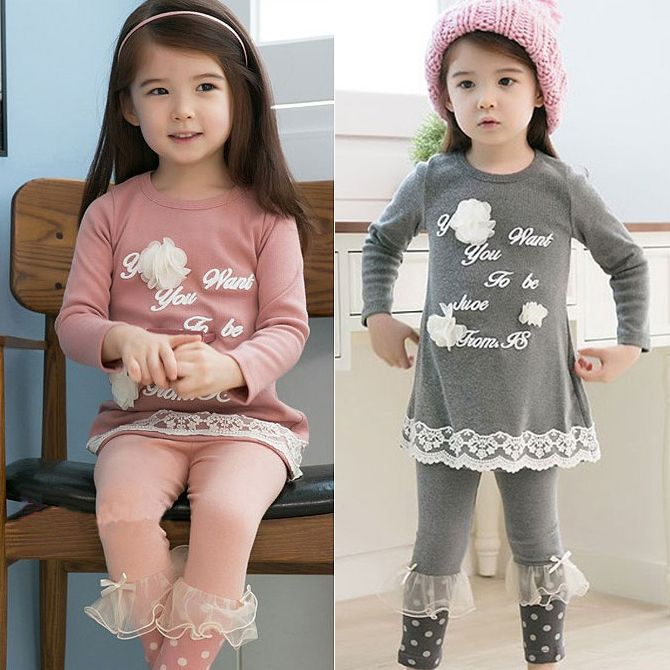 2014 spring and autumn girls clothing letter child long sleeve T shirt legging set tz 0607,High Quality  ,China   Suppliers, Cheap   from Kids Fashion Clothing - Worldwide Wholesale  on Aliexpress.com