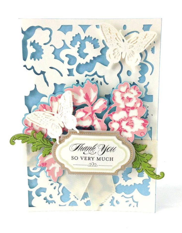 From The AG Cricut Auto Ship Package   Annau0027s Garden Cards And  Embellishments    HSN
