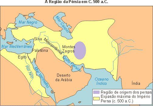 Em 550 AC, CIRO, um rei persa, venceu os MEDOS, tomou sua capital, ECBATANA, fundando o Reino da Pérsia. Nascia, nesse momento a Dinastia AQUEMÊNIDA, expressão das expansionistas elites persas, desejosas de territórios e riquezas.