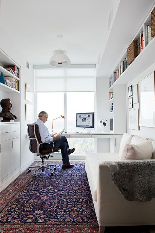 all of the perfect elements for a office lots natural light and small interior design