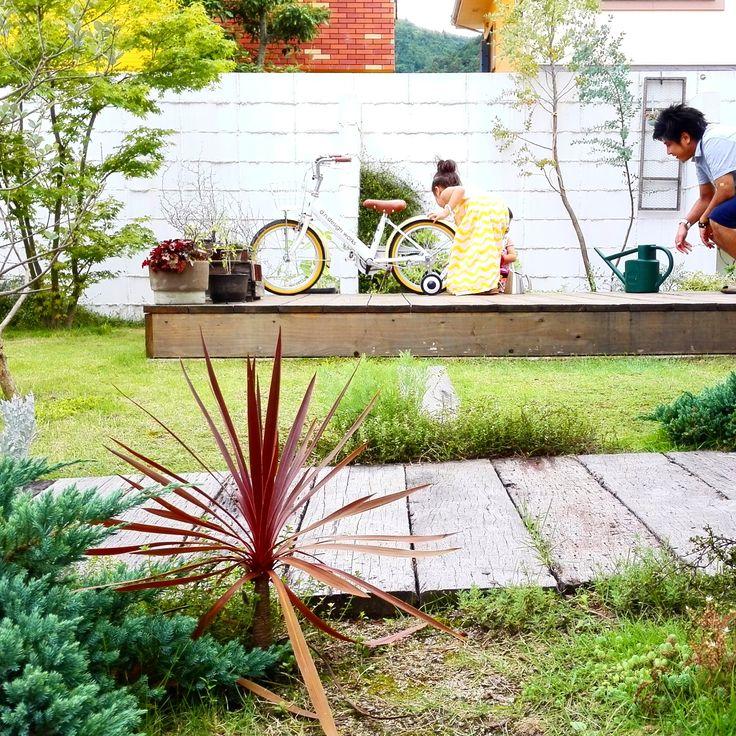枕木越しの庭 | D'S STYLE(ディーズスタイル)