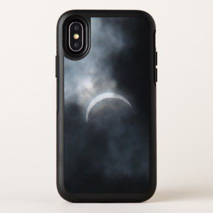 Spooky Eclipse Storm Clouds 2017 iPhone X Case  $63.30  by GigaPacket  - cyo diy customize personalize unique