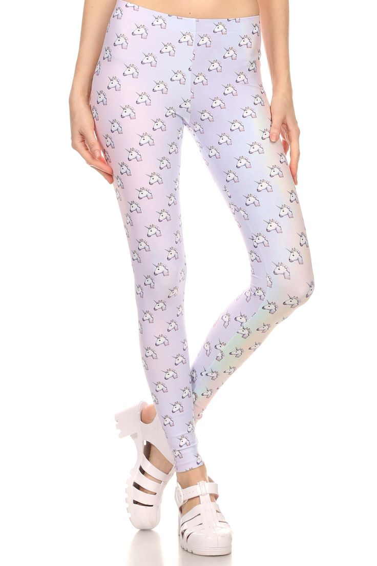 Unicorn Emoji Leggings from POPRAGEOUS