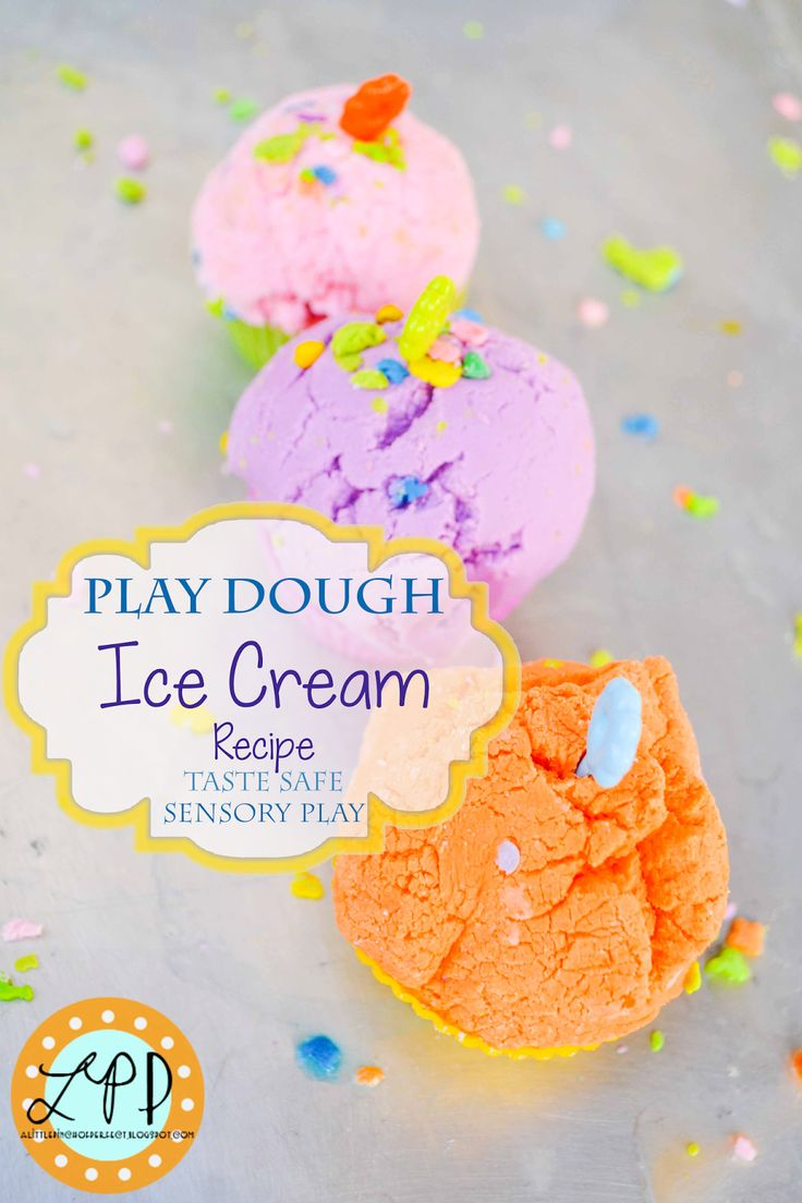 Play Dough Ice Cream Recipe for Sensory Play | A Little Pinch of Perfect