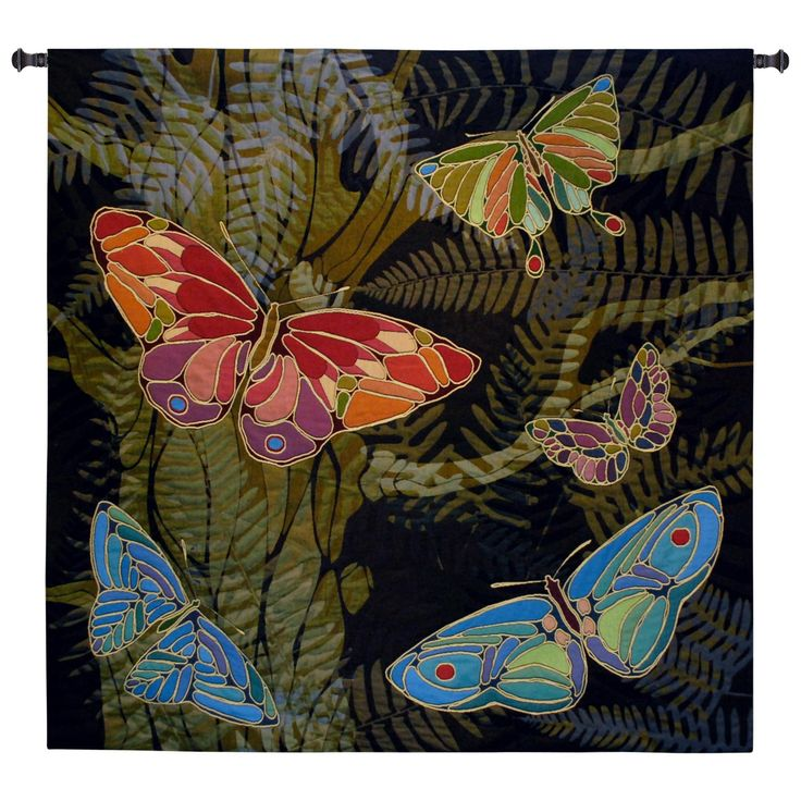 Fine Art Tapestries color Woodland Butterfly Wall Tapestry