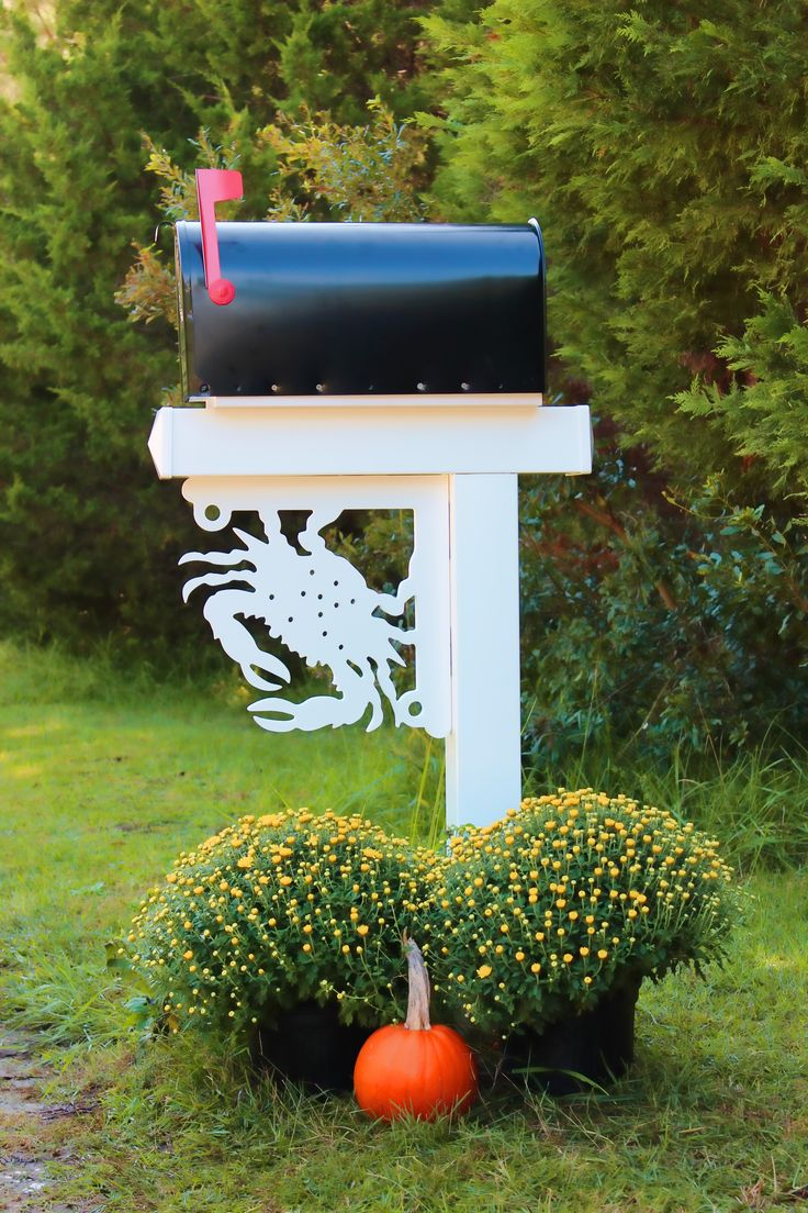 © Blue Crab Mailbox Corner Bracket.  Our nautical mailbox brackets have eye catching coastal designs that are guaranteed to add curb appeal to your home! Made from a highly durable and maintenance free 30 year life poly wood. 5 minutes to install and a lifetime of beauty. These corners brackets can be used as mailbox decor, on entryways, porch columns, windows and more. Go shopping now: http://www.islandcreekdesigns.com