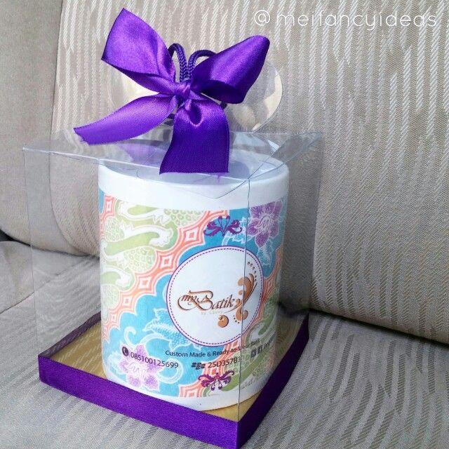 Batik Patterned Mug  Custom print mug for grand opening souvenir   Follow Instagram @meifancyideas to see more portfolio