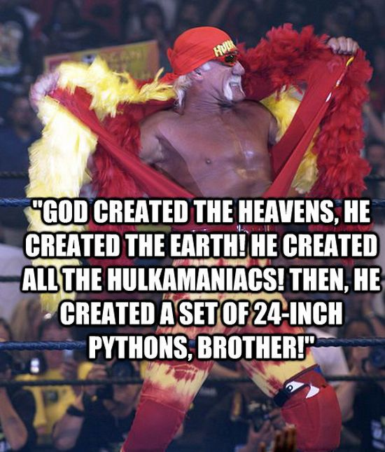 HULK HOGAN God Quote PICTURES PHOTOS and IMAGES