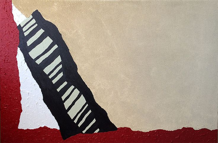 """Acrylic Abstract Painting –Floating, 36""""x24"""", $450"""