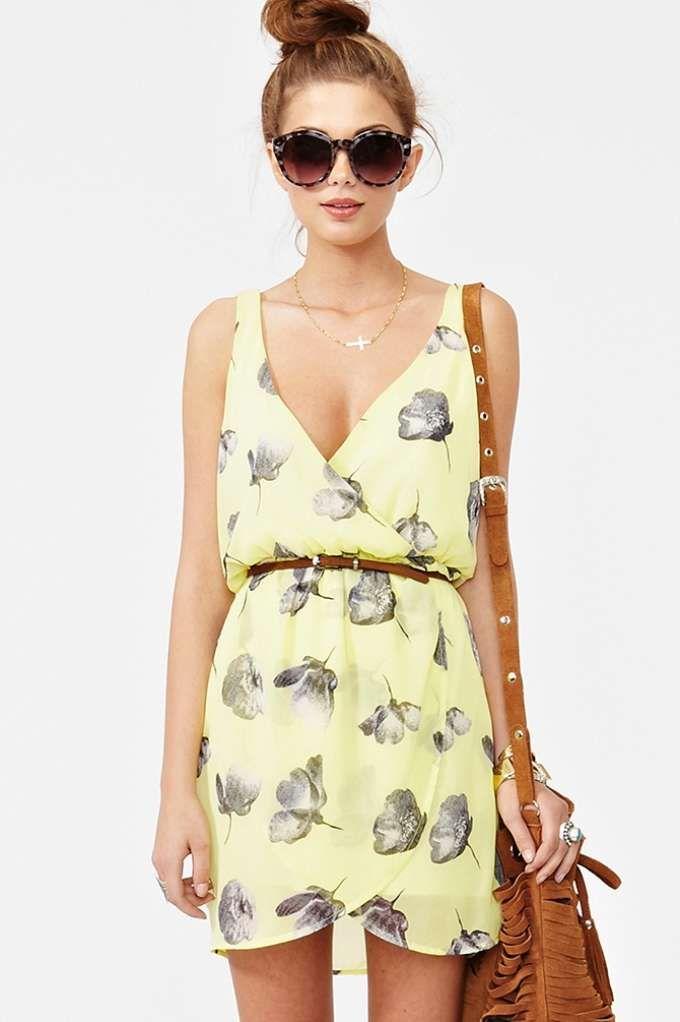 Fresh Cut Chiffon Dress