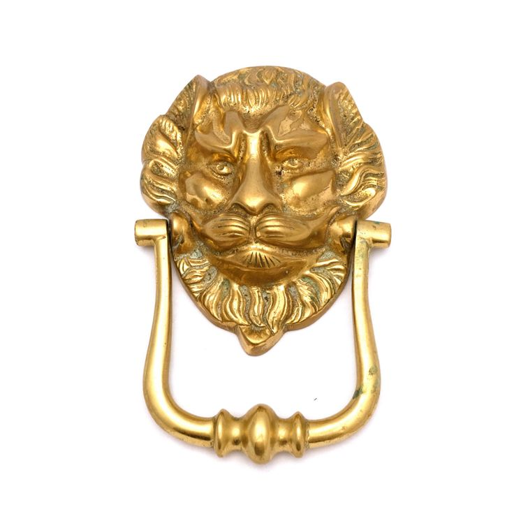 Large Lions Head Brass Door Knocker, Traditional Door Knocker, Classic Door  Knocker, Ornate