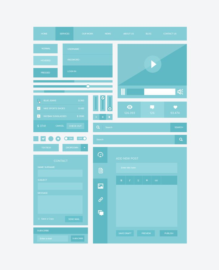 Responsive Ui Kit Free .PSD by ~emrah-demirag on deviantART #webdesign
