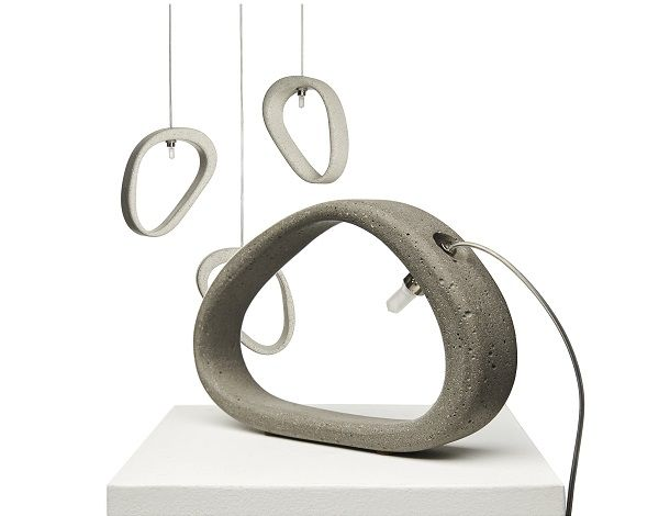 ''Aretha'' concrete lamp   design Urbi et Orbi 2016
