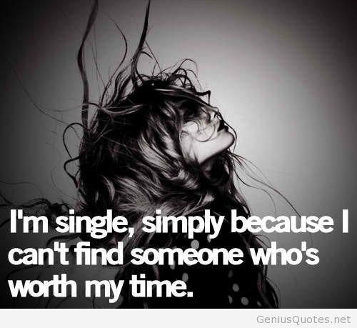 Im single girl quote