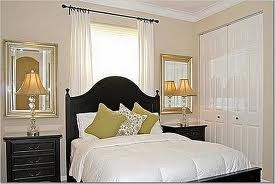 Like the mirrors behind the lamps for our master bedroom