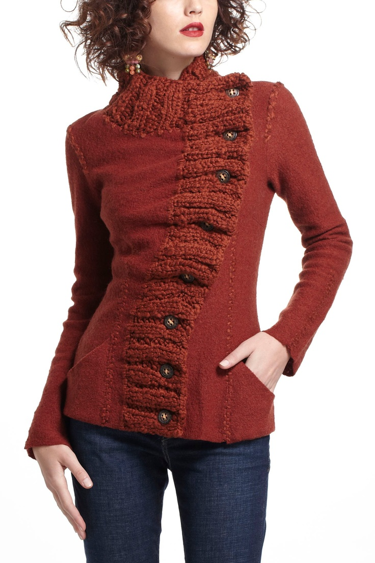 Transverse Placket Sweater - Anthropologie.com