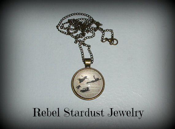 Collana di fotografia di Peter Pan di RebelStardustJewelry su Etsy