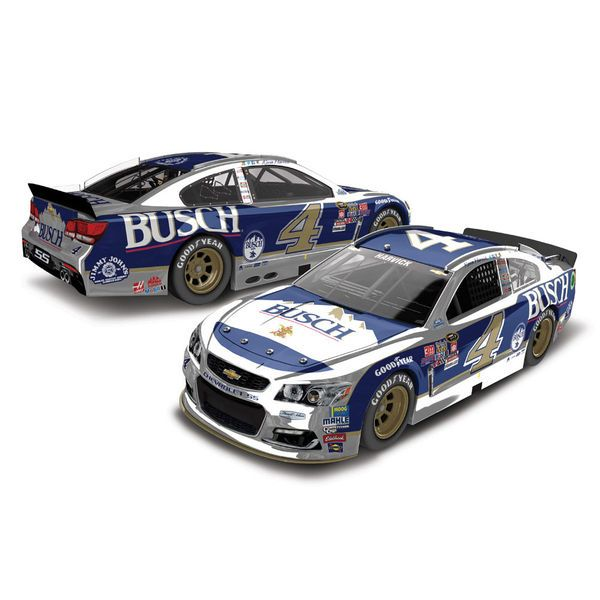 Kevin Harvick Action Racing 2016 Darlington #4 Busch Beer 1:24 NASCAR Sprint Cup Series Color Chrome Die-Cast Chevrolet SS - $67.99