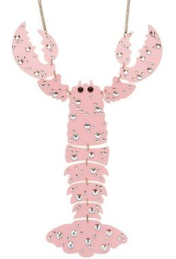 Issie's Lobster Giant Necklace - Pink £180 - Isabella Blow - Fashion Galore! 2013