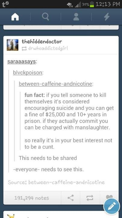how to tell someone not to kill themselves tumblr