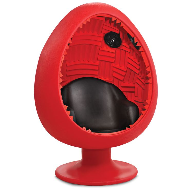 The Acoustic Immersion Pod.  DescriptionLifetime Guarantee  This is the pod that immerses a listener in an acoustically optimized chamber, providing an enveloping audio experience with its robust six-speaker surround sound system