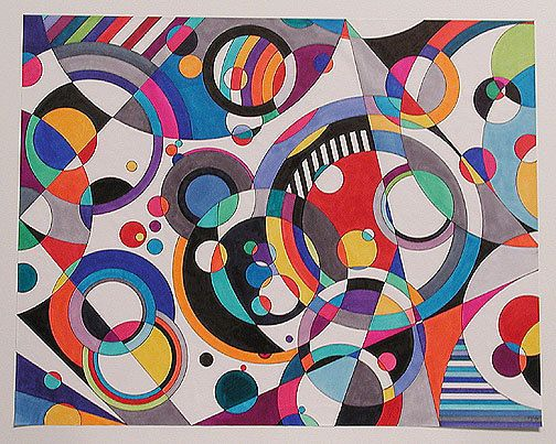 Eye Candy Version 3 abstract modern colorful by brucegray1, $1600.00