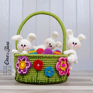 Ravelry: Little Bunnies Easter Basket pattern by Carolina Guzman
