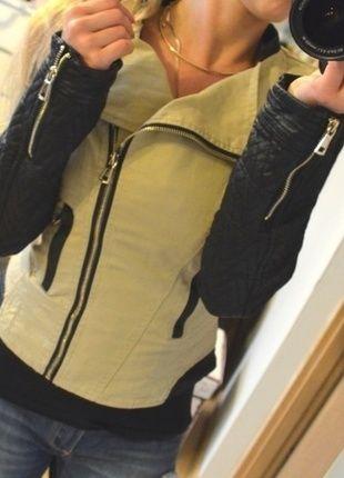 Kup mój przedmiot na #vintedpl http://www.vinted.pl/damska-odziez/kurtki/10589693-kurteczka-skorzane-rekawki-nowa