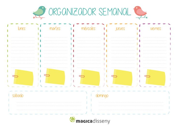 #organizadorsemanal #magicadisseny