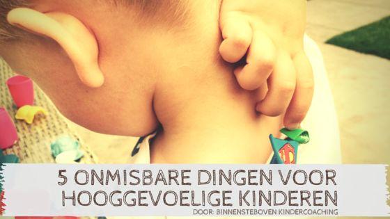 Wat onmisbaar is voor hooggevoelige kinderen.