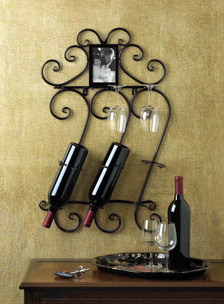 Scrollwork Wall Wine Rack