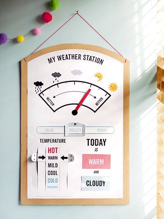 Make Your Own Low-Tech Weather Station — Mr. Printables (Between Earth and Sky)
