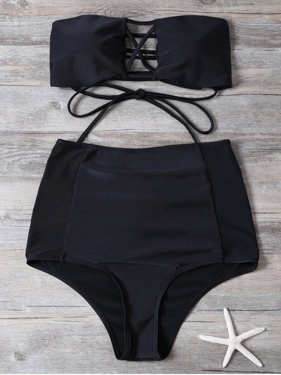 High Waisted Cut Out Swimsuit