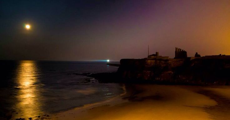 Moon over Tynemouth