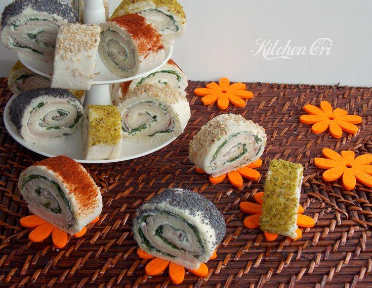 rotolini di tramezzini un'idea sfiziosa per presentare in modo diverso dei semplici tramezzini, adatti a buffet, aperitivi e feste