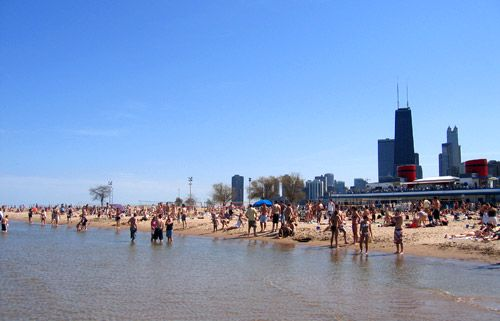 enjoy this beautiful weather after you're done setting up at North Avenue Beach