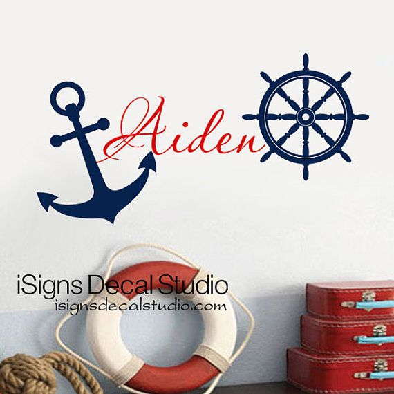 Hey, I found this really awesome Etsy listing at https://www.etsy.com/listing/129681477/nautical-wall-decal-boys-room-wall-decal