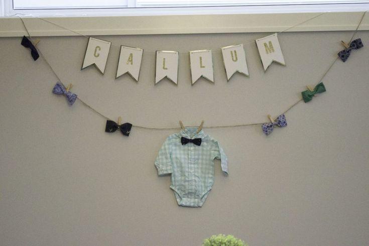 Bow Tie Garland - perfect baby boy shower decor!