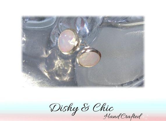 Opal Studs 8mm Earring Studs