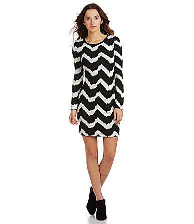 B Darlin LongSleeve Chevron Knit Dress #Dillards