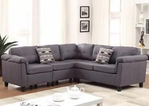 READY TO PICK UP !!! GREY SECTIONAL COUCH ON SALE FOR 699$ ONLY..OPEN 7 DAYS