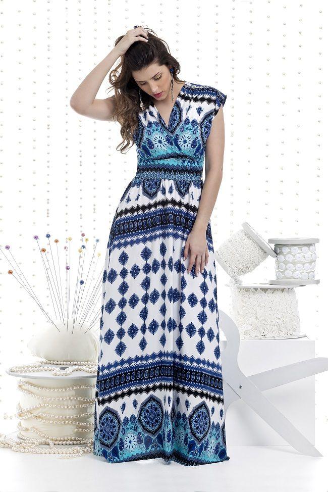 Vestido Bella Herança Viscose 5648 | Modelos de roupas ...