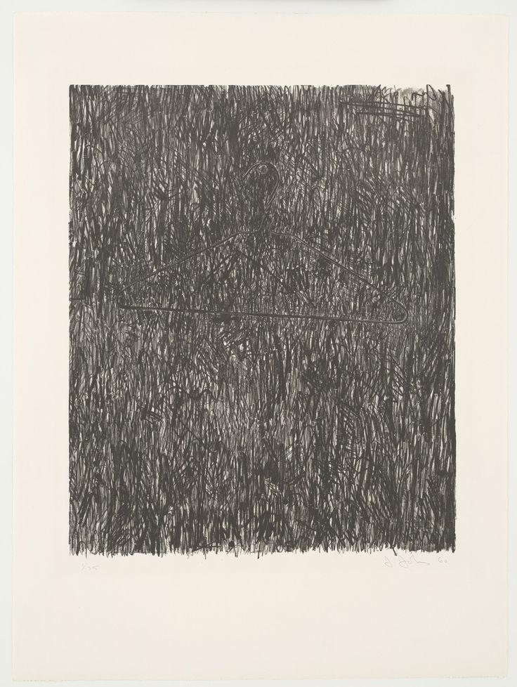 "Jasper Johns. Coat Hanger I. 1960. Lithograph. composition: 25 9/16 x 21 1/16"" (64.9 x 53.5 cm); sheet: 36 x 27"" (91.4 x 68.6 cm). Universal Limited Art Editions, West Islip, New York. Universal Limited Art Editions, West Islip, New York. 35. Gift of Mr. and Mrs. Armand P. Bartos. 248.1962. © 2017 Jasper Johns / Licensed by VAGA, New York. Drawings and Prints"