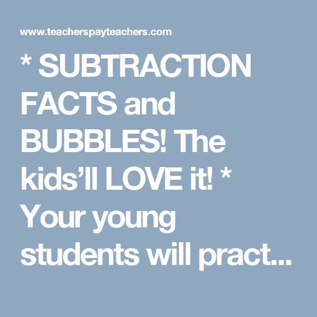 69 best Addition and Subtraction Facts images on Pinterest ...