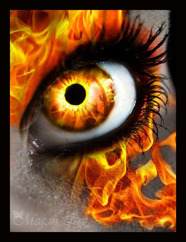 Fire eye  digital art   ojos  eyes  ogen !!
