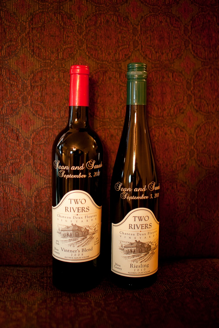 Etched Wine Bottles  A great gift idea for the wedding party!