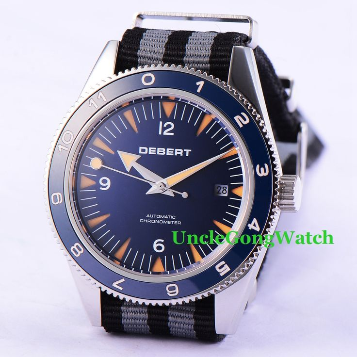 Debert 41mm Sapphire Glass Watch Fabric Strap Miyota Movement Automatic Armbanduhr Blue Dial Rotatable Ceramic Bezel Relojes   Tag a friend who would love this!   FREE Shipping Worldwide   Buy one here---> https://shoppingafter.com/products/debert-41mm-sapphire-glass-watch-fabric-strap-miyota-movement-automatic-armbanduhr-blue-dial-rotatable-ceramic-bezel-relojes/