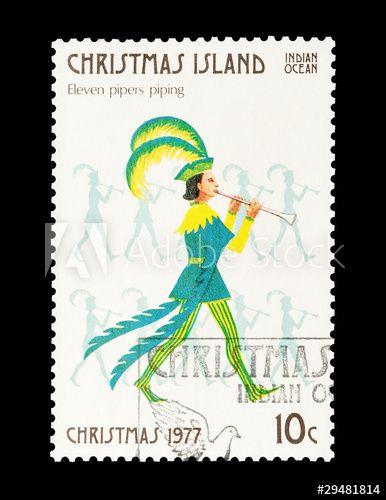 Christmas Island stamp eleventh day of Christmas