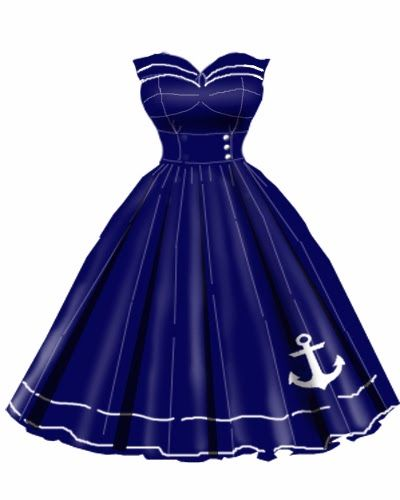 Rockabilly Anchor Dress - OHMYGOODNESSGRACIOUS OHMYYES NEED NEED NEED