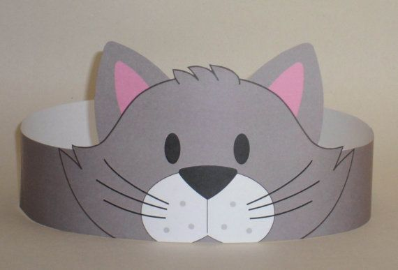 Create your own Cat Crown! Print, cut & glue your cat crown together & adjust to fit anyones head!    • A .pdf file available for instant download